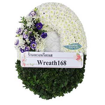 หรีดดอกไม้สด 9012