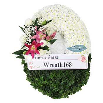 หรีดดอกไม้สด 9014