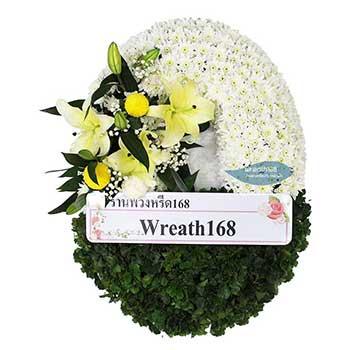 หรีดดอกไม้สด 9015