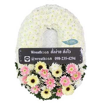 หรีดดอกไม้สด 9055