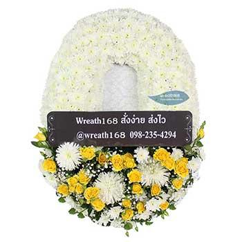 หรีดดอกไม้สด 9059